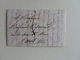 MARQUE LINEAIRE DE LE HAVRE SUR LETTRE POUR PARIS DU 2 SEPTEMBRE 1819 - 1801-1848: Precursors XIX