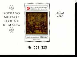 Malteser Orden SMOM Block Natal 1982  MNH Postfrisch  Neuf ** (0011) - Malta (Orden Von)