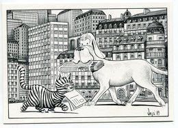 """VEYRI - Carte Personnelle J.Marc Durand """"Contre La Vivisection"""" Chien - Chat -  Voir Scan - Veyri, Bernard"""