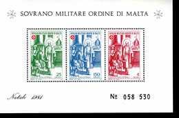 Malteser Orden SMOM Block Natal 1981  MNH Postfrisch  Neuf ** (0012) - Malta (la Orden De)