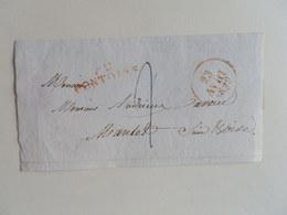 MARQUE LINEAIRE DE PONTOISE SUR DEVANT DE LETTRE POUR MANTES DU 23 AVRIL 1829 - 1801-1848: Precursors XIX