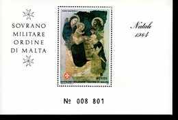 Malteser Orden SMOM Block Natal 1984  MNH Postfrisch  Neuf ** (0013) - Malta (Orden Von)