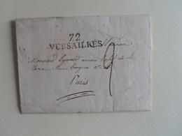 MARQUE LINEAIRE DE VERSAILLES SUR LETTRE POUR PARIS DU 8 FEVRIER 1829 - 1801-1848: Precursors XIX