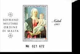 Malteser Orden SMOM Block Natal 1987  MNH Postfrisch  Neuf ** (0017) - Malta (Orden Von)