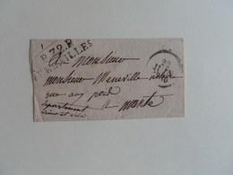 MARQUE LINEAIRE DE VERSAILLES SUR LETTRE POUR MANTES DU 22 JUIN 1830 - 1801-1848: Precursors XIX