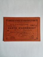 FÉDÉRATION NATIONALE DES COMBATTANTS DU FRONT : Carte D'adhérent--Année 1936 - Old Paper