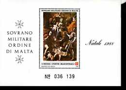 Malteser Orden SMOM Block Natal 1988  MNH Postfrisch  Neuf ** (0018) - Malta (Orden Von)
