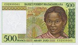 Madagascar 500 Francs 1994 Pick 75a UNC - Madagascar