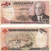 Tunisie 1 Dinar - Tusesië