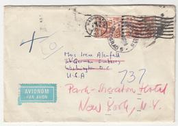 Yugoslavia, Letter Cover Travelled 1959 Beograd Via Washington To New York B181215 - 1945-1992 Sozialistische Föderative Republik Jugoslawien