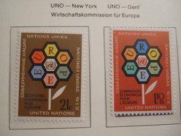UNITED NATIONS NY GENEVE     1972.      MNH.    IS22-NVT - European Ideas