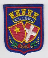 Ecusson Tissu - Aix-les-Bains (73) - Blason - Armoiries - Héraldique - Stoffabzeichen