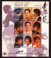 Bruce Lee, Kleinbogen Und Block, Gambia - Schauspieler
