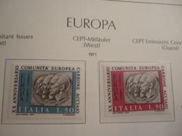 ITALY     1971.  25 YEARS KSZE. COAL AND STEEL   MNH.    IS22-NVT - European Ideas