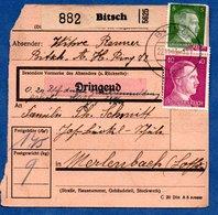 Colis Postal -  Départ Bitsch  ( Bitche )    22/11/1942 - Allemagne