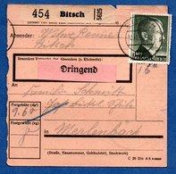 Colis Postal -  Départ Bitsch  ( Bitche )    30/11/1943 - Germany