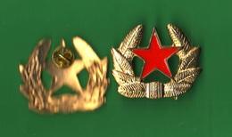 Distintivo URSS Russia CCCP Moderno Stella Rossa Da Colbacco Red Star Roter Stern Étoile Rouge - Militari