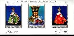 Malteser Orden SMOM Block Natal 1986 MNH Postfrisch  Neuf ** (0018) - Malta (Orden Von)