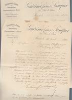 Brest - Guezenec Freres & Sanquer - Effilochage De Laines - 2 Lettres 1890 Sur Verger B.A.Lyon - 1800 – 1899