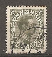 Yv. DK  N°  75   (o)  12o  Christian X Cote  9 Euro BE  2 Scans - 1913-47 (Christian X)