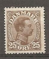 Yv. DK  N°  78   *  25o  Christian X Cote  12 Euro BE R  2 Scans - 1913-47 (Christian X)
