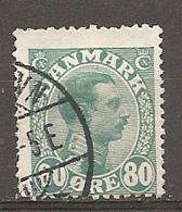 Yv. DK  N°  81   (o)  80o  Christian X Cote  15 Euro BE   2 Scans - 1913-47 (Christian X)