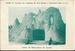 D62 - MERLIMONT PLAGE - COLONIE DE VACANCES DES ORPHELINS DU PERE HALLUIN A MERLIMONT - GROTTE DE NOTRE DAME DE LOURDES - Frankrijk