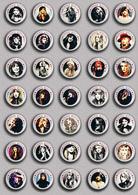 35 X ROCK STEVIE NICKS Music Fan ART BADGE BUTTON PIN SET 2 (1inch/25mm Diameter) - Music