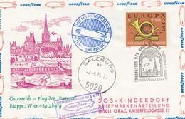 LETTRE. COVER. BALLON WIEN/ SALZBURG. GOODYEAR. AUSTRIA 7 9 74 - Briefmarken