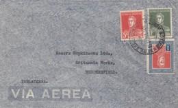 LETTRE. COVER. BARGENTINA. VIA AEREA. 1935 TO HUDDERSFIELD. GREAT BRITAIN - Briefmarken