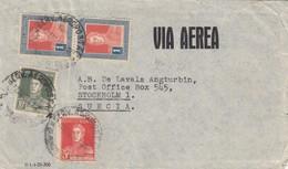 LETTRE. COVER. ARGENTINA. VIA AEREA. 1933. BUENOS AIRES TO STOCKHOLM SWEDEN - Briefmarken