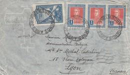 LETTRE. COVER. ARGENTINA. VIA AEREA. 1935. BUENOS AIRES TO LYON FRANCE - Briefmarken