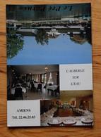 Amiens - Le Pré Porus - L'auberge Sur L'eau - 95, Rue Voyelle - Carte Publicitaire Avec Photos Du Restaurant - (n°13828) - Publicités