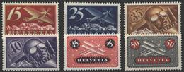 Schweiz 179-184 Flugpostmarken 1923 Flugzeuge Und Pilot Sauber Ungebraucht - Schweiz