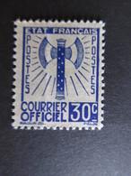 152) France Service, Yvert N° 2 Neuf Sans Gomme - Cote 40 € - Neufs