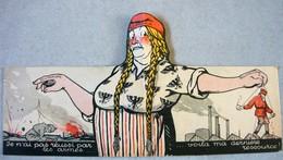 Guerre Propagande Anti-Allemagne Militarisme Bolchévisme ALLEMANDE GROSSE BERTA  Caricature Germania Carte DIXI Ww1 Ww2 - Documenti Storici