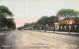 Seltene ALTE  AK   SAO PAULO / Brasilien  - Avenda Paulista - 1927 Ca. Gelaufen - São Paulo