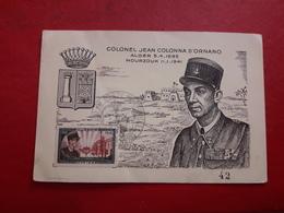 Algeria FDC Colonel Jean Colonna D Ornano 1941 - Algérie (1924-1962)