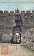 CARD. JERUSALEM. FATIH. UPU CONSTANTINOPLE. TURKEY TO USA - Briefmarken
