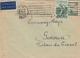 LETTRE. COVER. POLSKA. 1948.  KONOTOP PAR AVION TO GENEVE SWITZERLAND - Briefmarken