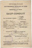 VP13.699 - MILITARIA - Guerre 14 / 18 - Préfecture De Police - SAUF - CONDUIT - BOULOGNE X BIARRITZ - Police & Gendarmerie
