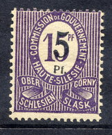 UPPER SILESIA 1920 Surcharge 5 Pf. On 15 Pf. LHM / *.  Michel  10F - Germany