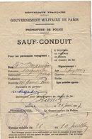 VP13.700 - MILITARIA - Guerre 14 / 18 - Préfecture De Police - SAUF - CONDUIT - BOULOGNE X BIARRITZ - Police & Gendarmerie