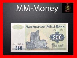 AZERBAIJAN 250 Manat 1992 P. 13 B UNC RADAR Serial - Azerbaïjan