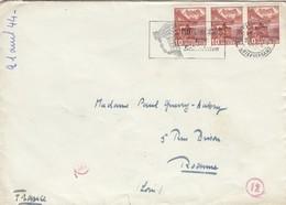 LETTRE. COVER. SWITZERLAND. 1944. ZURICH TO ROANNE FRANCE. GERMAN CENSOR - Postzegels