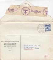 LETTRE. COVER. SWITZERLAND. 1944. POZIEUX PRES FRIBOURG TO ROANNE FRANCE. GERMAN CENSOR - Non Classés