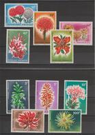 Rwanda 1966 Fleurs 148-157 10 Val ** MNH - 1962-69: Mint/hinged