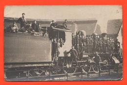 Treno Locomotiva Train Foto Anni '10 Ferrovieri In Transito Zug - Trains