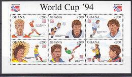 Soccer World Cup 1994 - Football - GHANA - Sheet MNH - World Cup