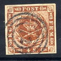 DENMARK 1858 4 Sk. With Wavy Lines, Good Margins, Used. .  Michel 7b - 1851-63 (Frederik VII)